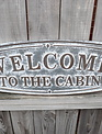 Welcome To The Cabin Rustic Galvanized Sign