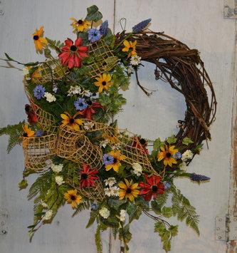 Custom Wildflower Half Wreath