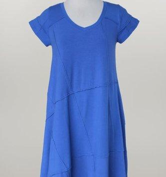 Stitched V-Neck A-Line Dress (2-Colors)