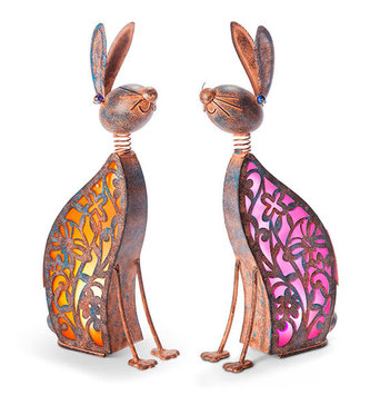 Solar Sitting Bunny (2-Colors)