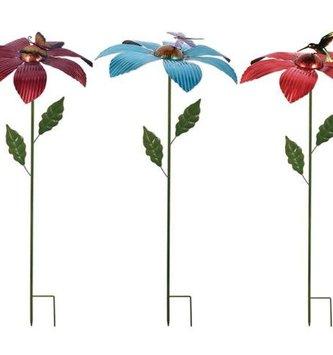 Balancing Ridged Metal Flower Stake