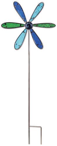 Embossed Glass Pinwheel Stake (2-Sizes)