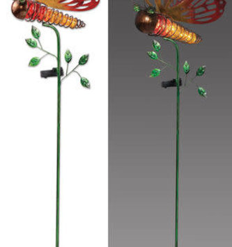 Solar Cut-Out Metal Butterfly Stake (2-Colors)