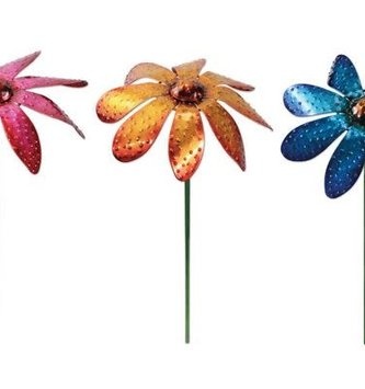 Balancing Dotted Metal Flower Stake (3-Colors)
