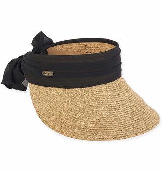 Chiffon Bow Visor Brim Hat