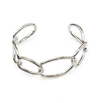Open Link Silver Bracelet