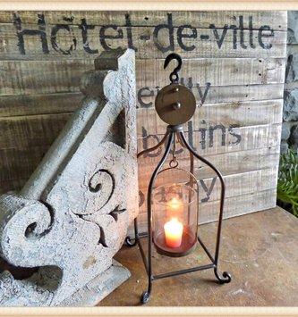 Metal Pulley Vase Candle Holder