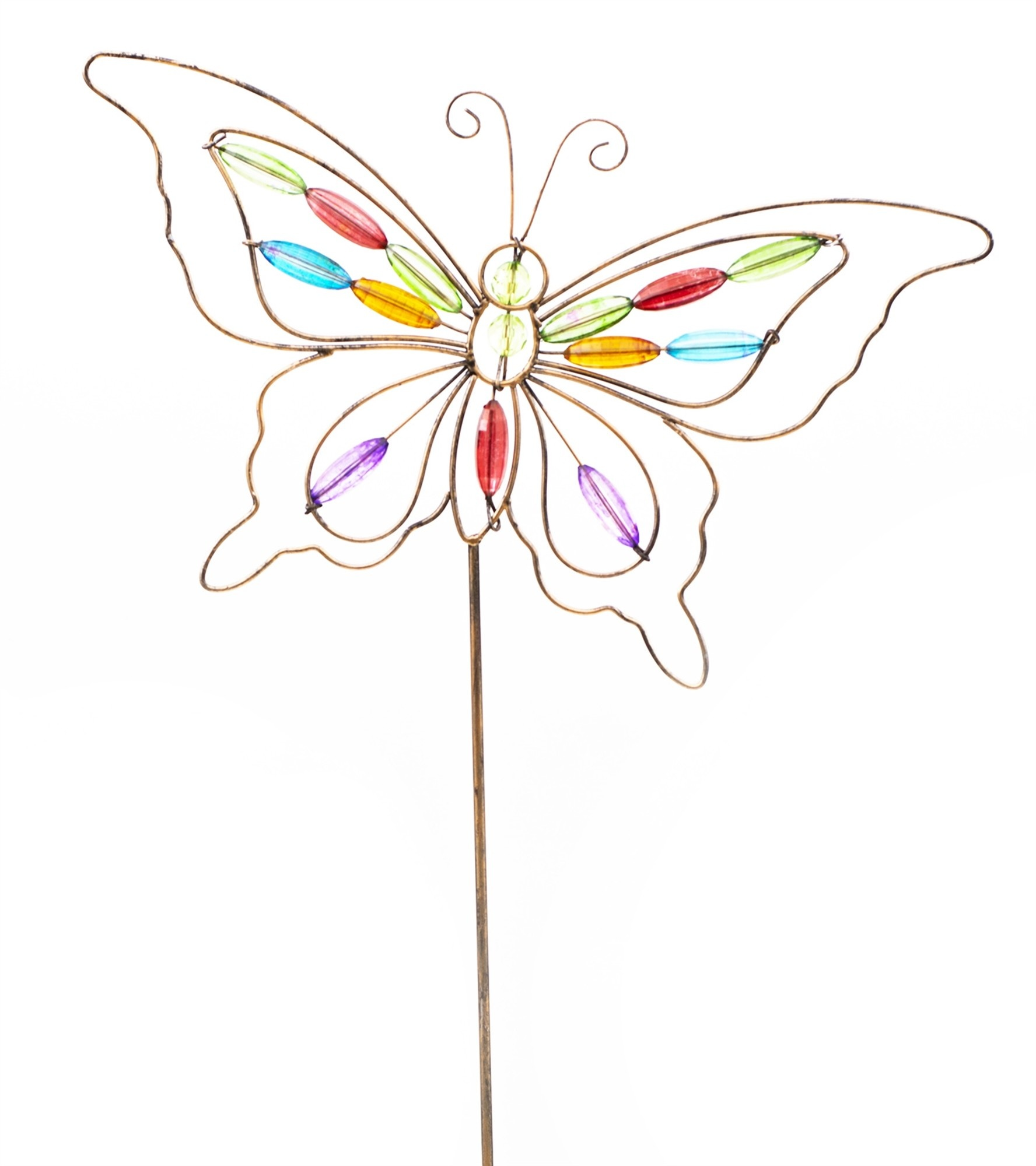 Acrylic Jeweled Butterfly Stake