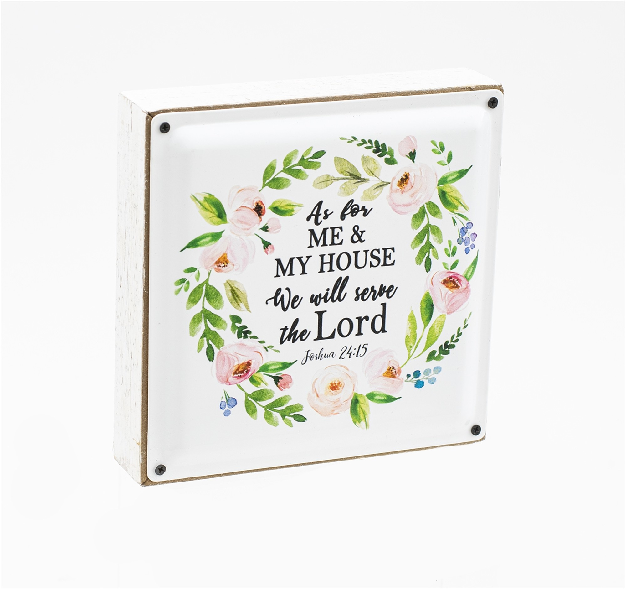 Enamel and Wood Floral Wreath Sign (2-Styles)