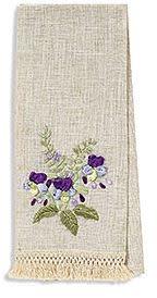 Wildflower Ribbon Fringed Tea Towel (4-Colors)