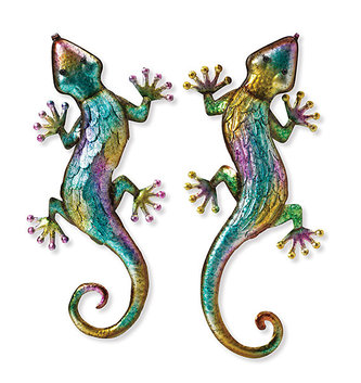 Metallic Colorful Wall Lizard (2-Styles)