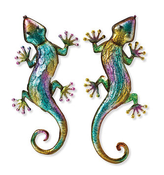 Metallic Colorful Wall Lizard (2-Styles)