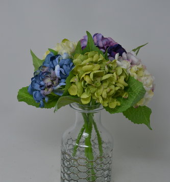 "13"" Hydrangea Bloom Stem (5-Colors)"