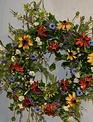 Custom Wildflower Black Eyed Susan Wreath