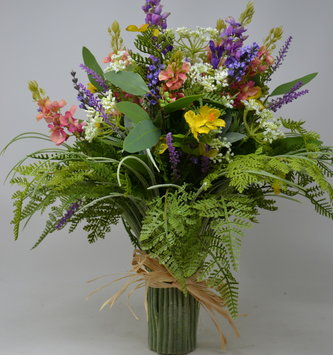 Custom Lupine Grass Vase Arrangement