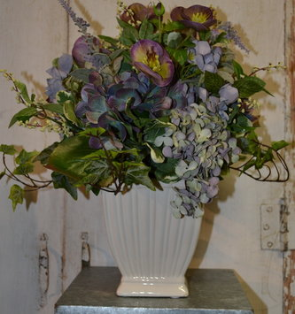 Purple Hydrangea Arrangement