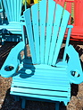 2-ft Fan-Back Glider Outdoor Chair