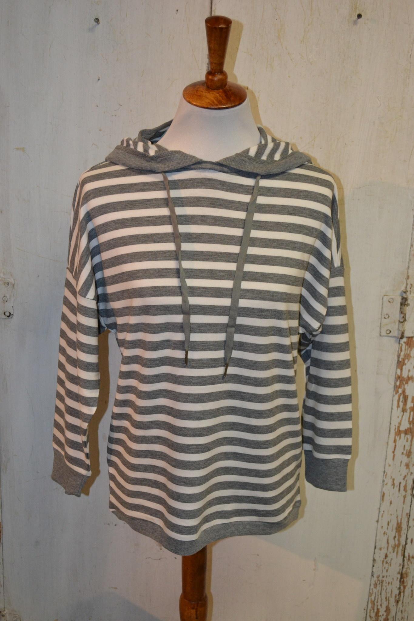 Soft Striped Hoodie (4-Sizes)