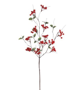"31"" Woodland Red Berry Branch"