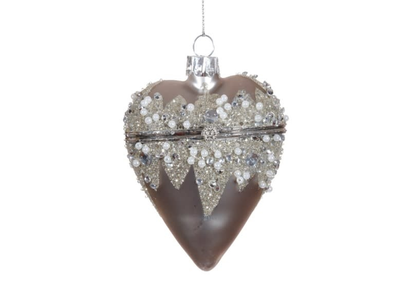 Beaded Glitz Heart Box Ornament