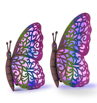 Multicolor Solar Butterfly (2-Sizes)