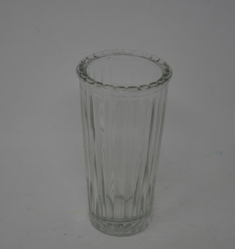 "4.75"" Ribbed Glass Vase"