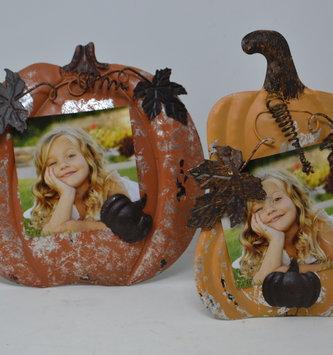 Pumpkin Metal Photo Holder (2 Styles)