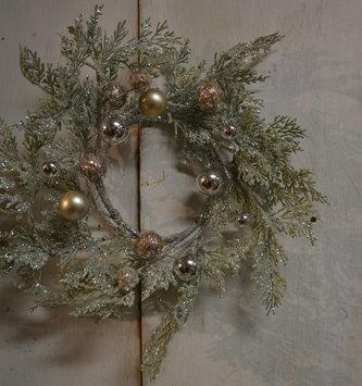 Small Glitz Cedar Ornament Wreath