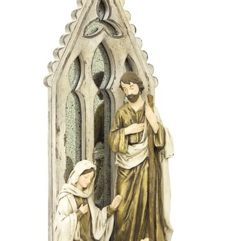 Tabletop Holy Family with Arched Mirror