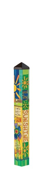3' Good Day Sunshine Peace Pole