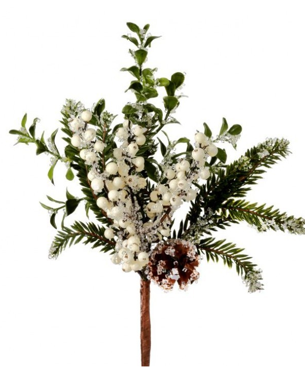 Iced Berry Pinecone Greenery Pick (2-Colors)