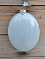 Oval Glass Cardinal Ornament
