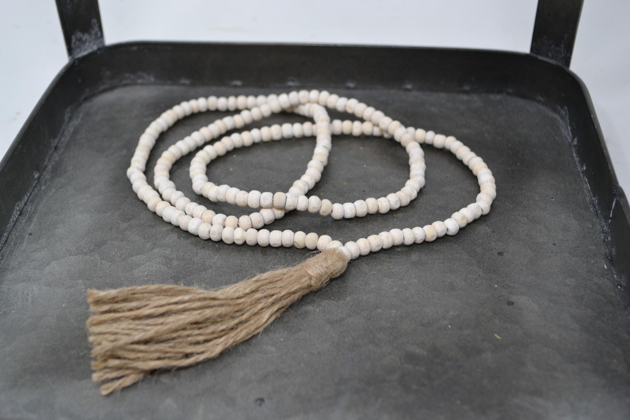 Decorative Bead Strand With Tassel