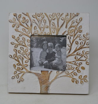 Square Carved Giving Tree Photo Frame