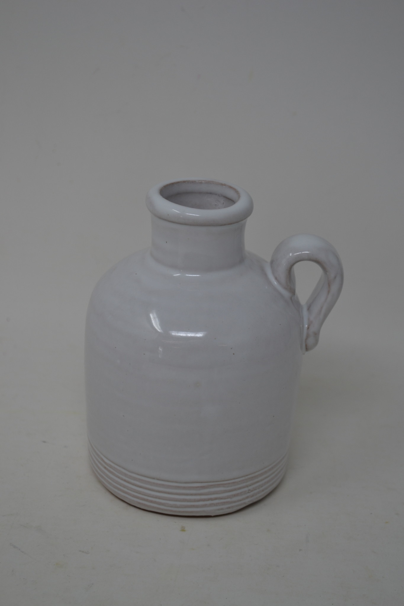 "5"" White Pottery Jug"