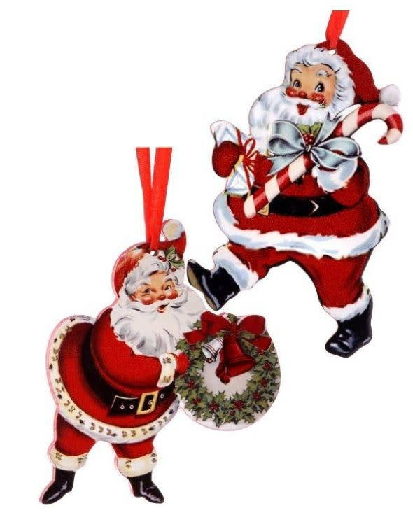 Retro Santa Ornament (2-Styles)