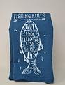 Blue Fishing Rules Towel