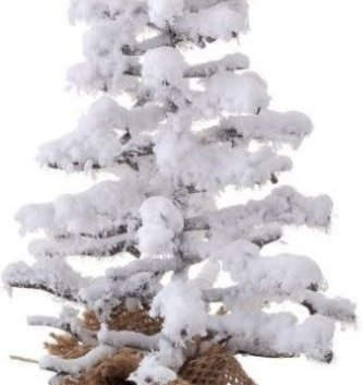 Snowy Twig Tree In Burlap (2-Sizes)