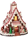 LED Peppermint Gingerbread House