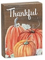 Thankful Pumpkin Mini Block Sign