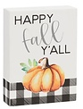 Happy Fall Y'all Mini Block Sign