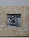 Square Carved Happy Place Photo Frame