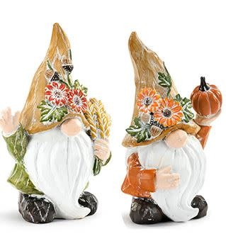 Small Carved Autumn Gnome (2-Styles)