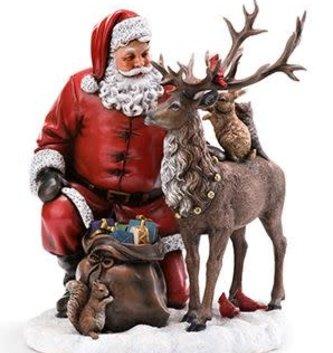 Tabletop Santa with Reindeer