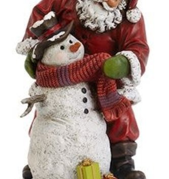 Tabletop Santa Helping Snowman
