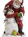 Tabletop Santa Helping Snowman