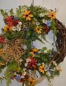 Custom Wildflower Meadow Half Wreath