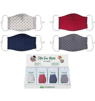 Polka Dot Cotton Face Mask (4 Colors)