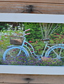 Garden Bicycle Rustic Framed Print