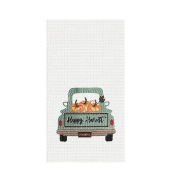 Happy Harvest truck kitchen towel